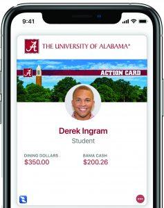Screenshot of eAccounts on iPhone